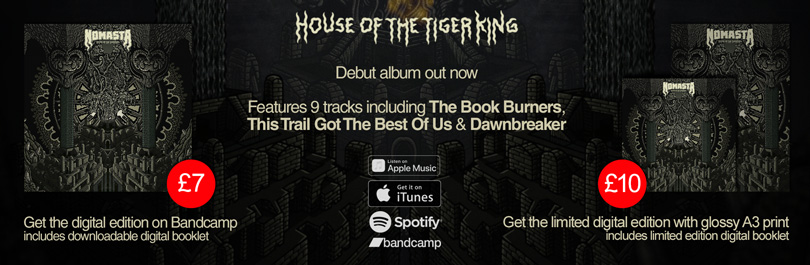 House of the Tiger King available on Apple Music, iTunes, Spotify & Bandcamp